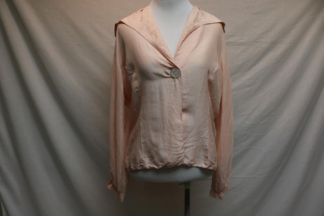 1930's Pink Blouse with Mother of Pearl Buttons