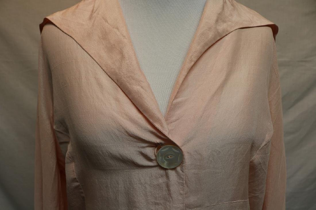 1930's Pink Blouse with Mother of Pearl Buttons - 2