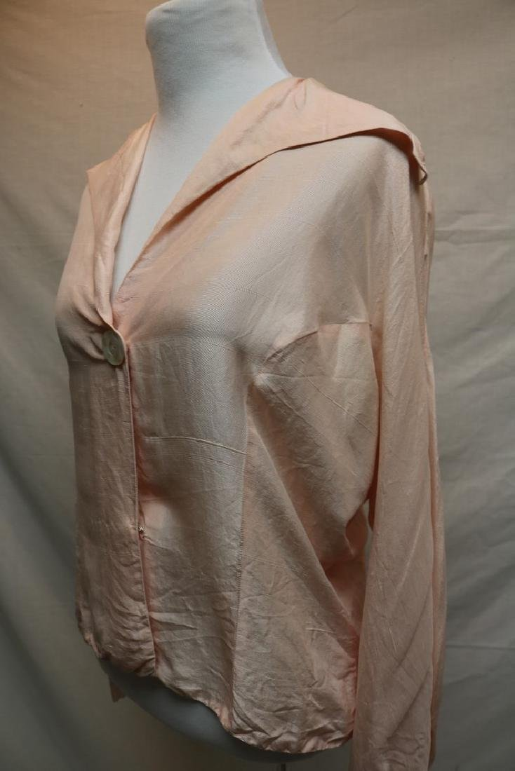 1930's Pink Blouse with Mother of Pearl Buttons - 3