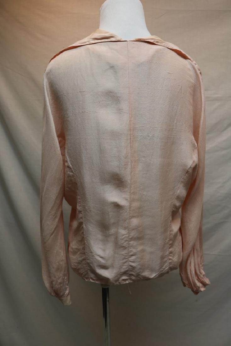 1930's Pink Blouse with Mother of Pearl Buttons - 4
