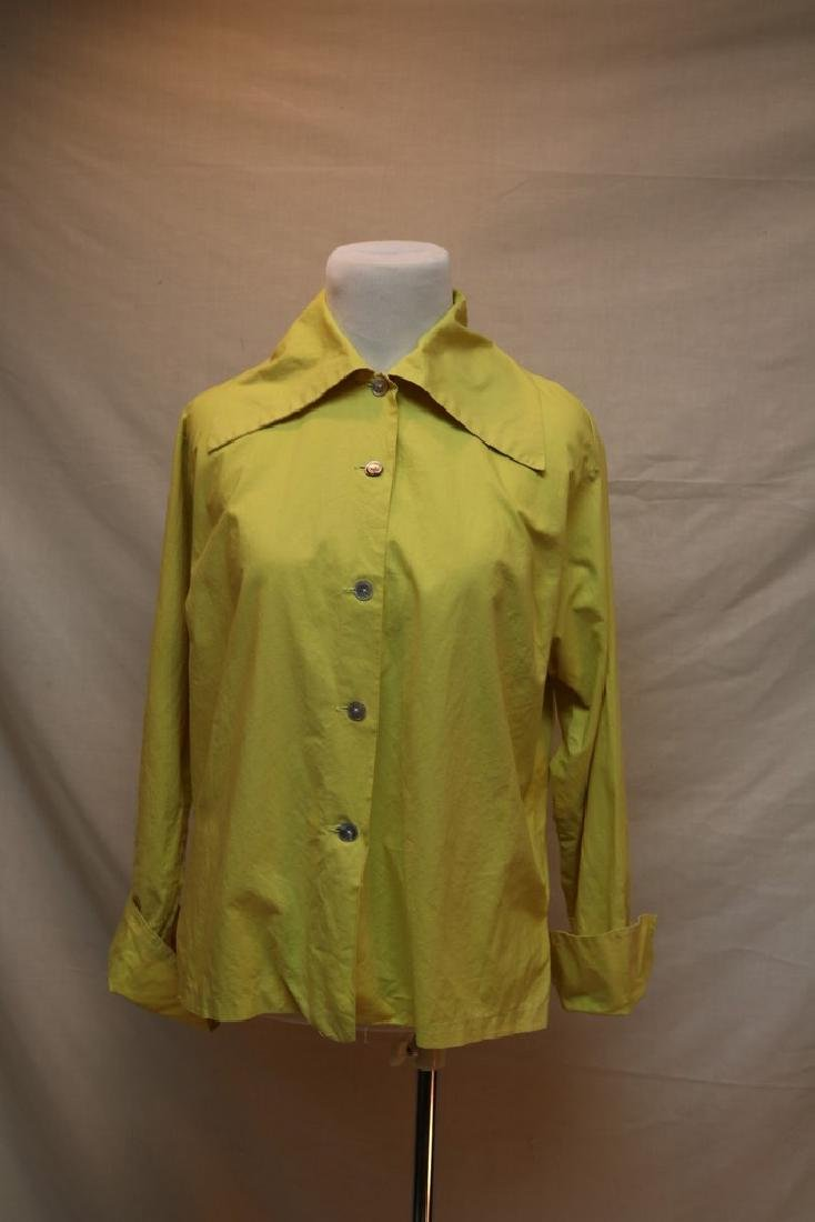 1950's Lemon Yellow Cotton Blouse by Bobbie Brooks