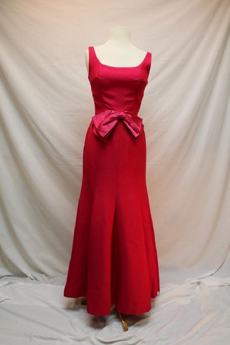 1960's Hot Pink Mermaid Gown