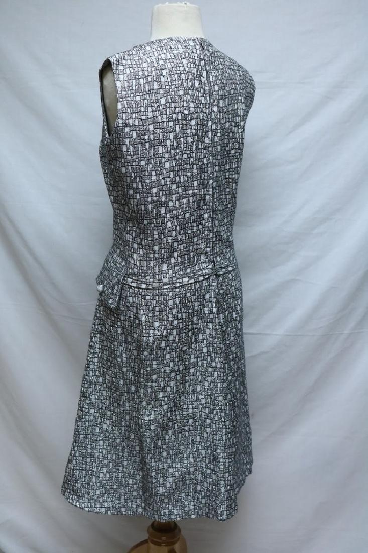 1960's  Silver Lurex Dress with drop waist - 3