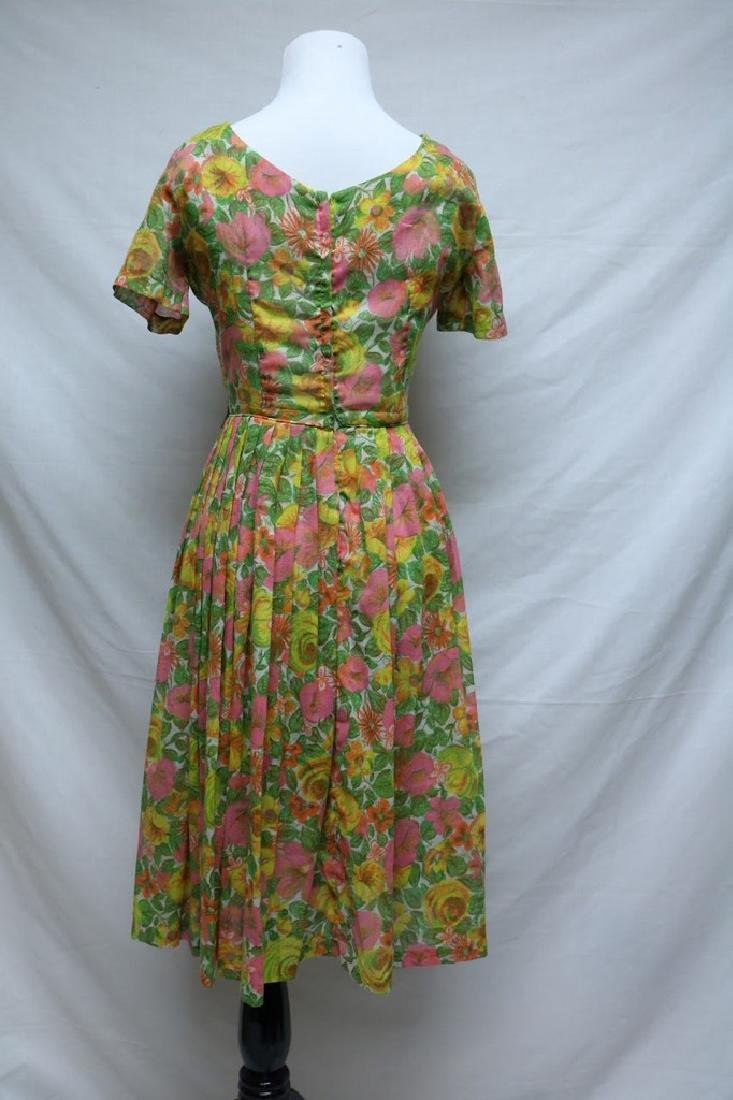 1960's Neon Floral Dress by Kay Windsor - 2