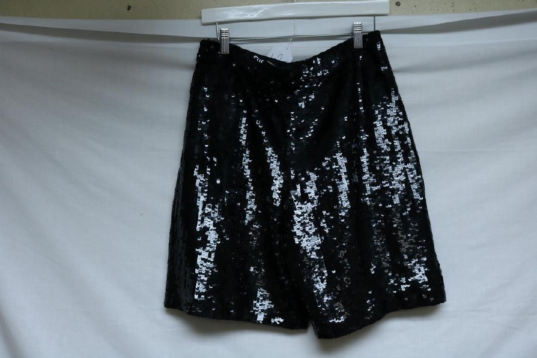 1980's Black Disco Sequin Shorts by Laurence Kazor