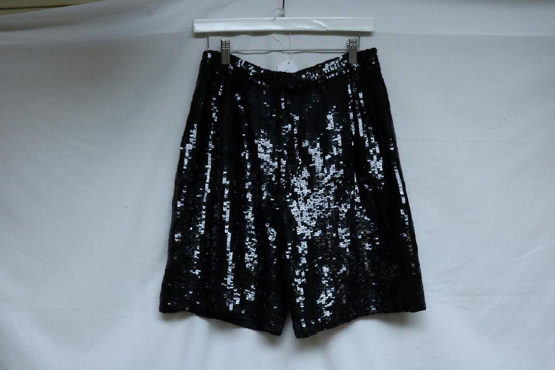 1980's Black Disco Sequin Shorts by Laurence Kazor - 2