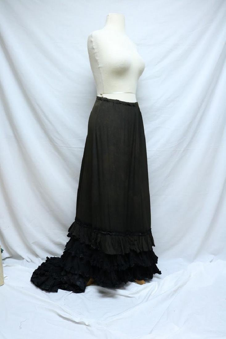 Victorian Silk Petticoat, with tiered Silk Ruffled Hem