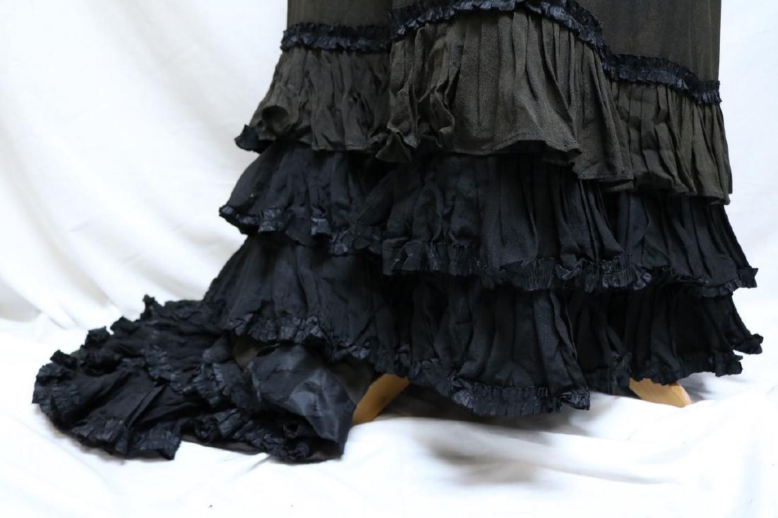 Victorian Silk Petticoat, with tiered Silk Ruffled Hem - 2