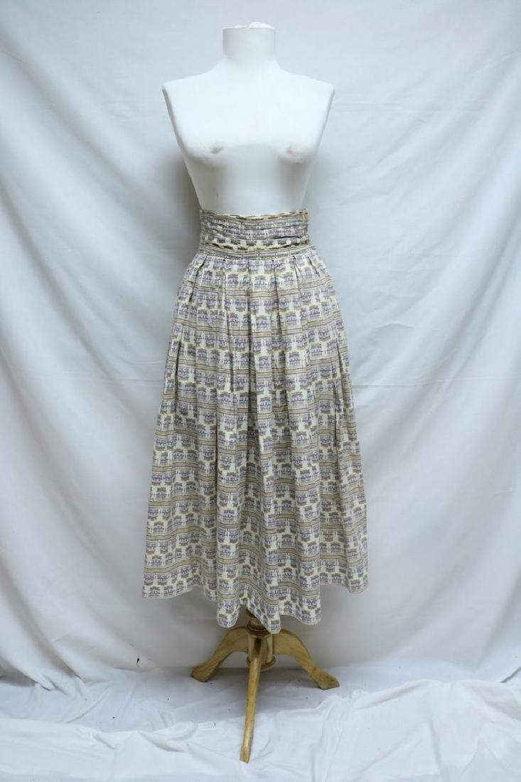 1950's Novelty Print Skirt with high waist band