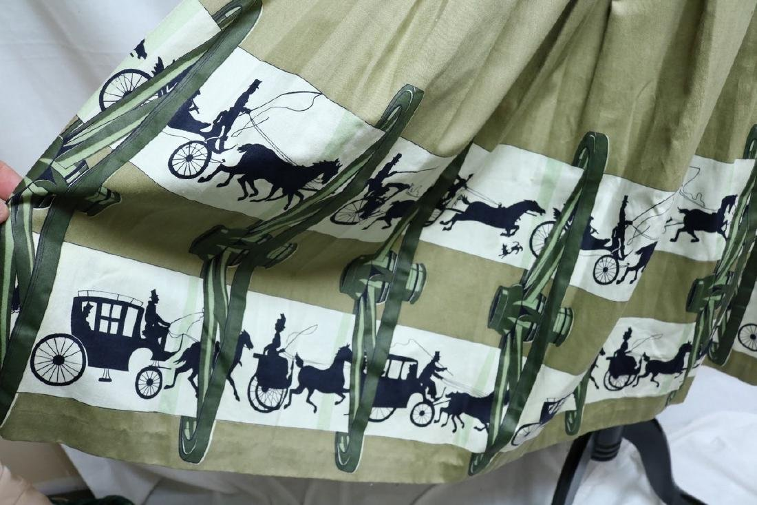 1950's Horse & Carriage Novelty Print Skirt - 2