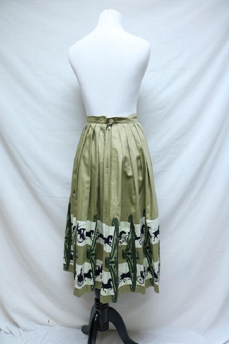 1950's Horse & Carriage Novelty Print Skirt - 3
