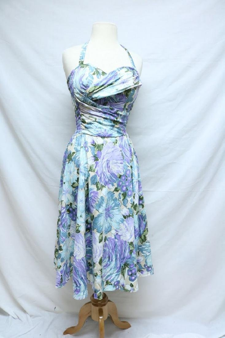 1950's Cole of California Floral Halter Dress