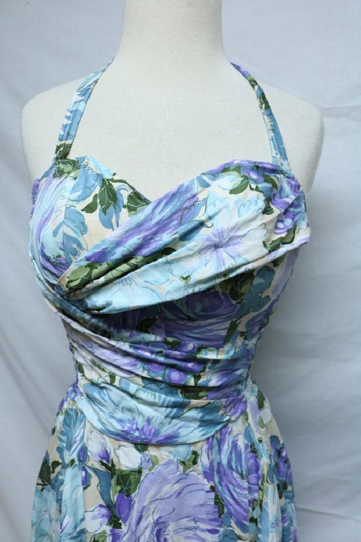 1950's Cole of California Floral Halter Dress - 2