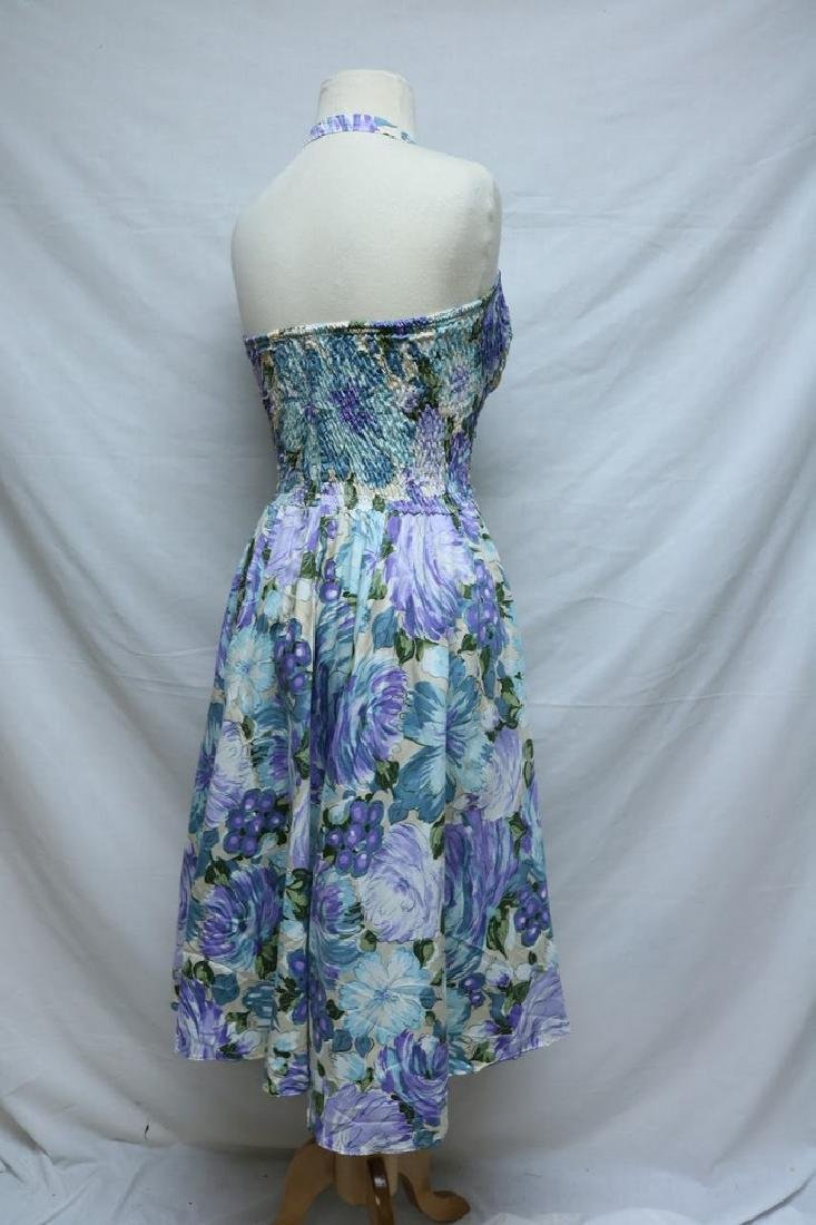1950's Cole of California Floral Halter Dress - 3