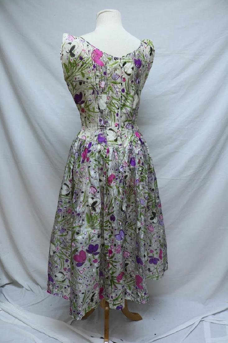 1950's Floral Organza Party Dress - 3