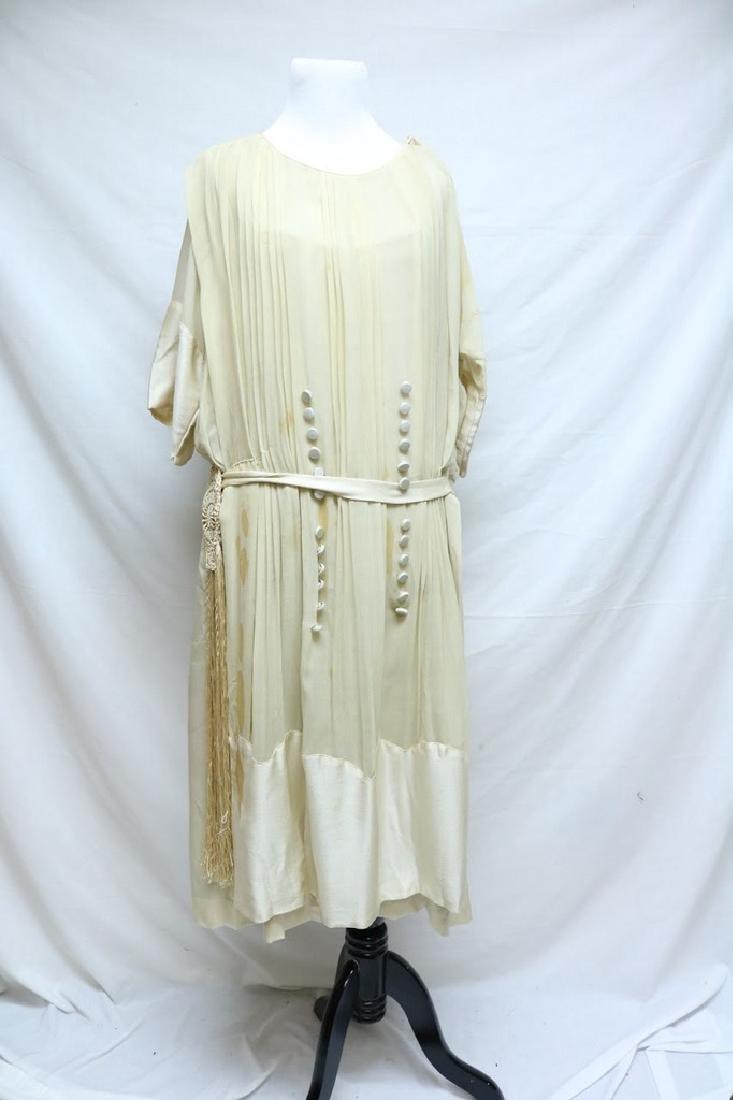 Late Edwardian Chiffon Silk Dress