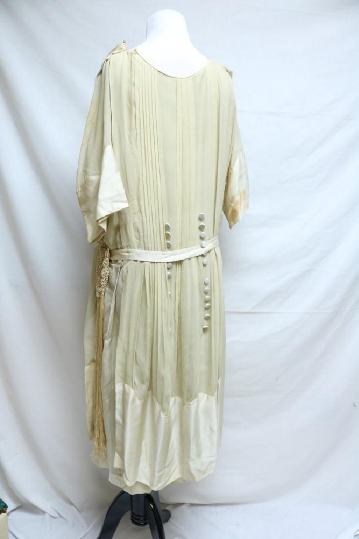 Late Edwardian Chiffon Silk Dress - 3