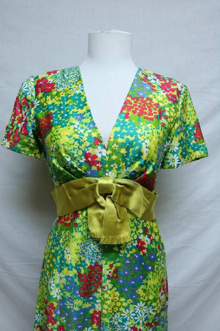 1960's Bright Floral Maxi Dress by Rona - 2