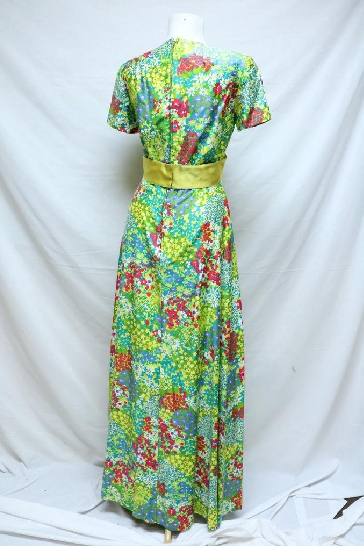 1960's Bright Floral Maxi Dress by Rona - 3