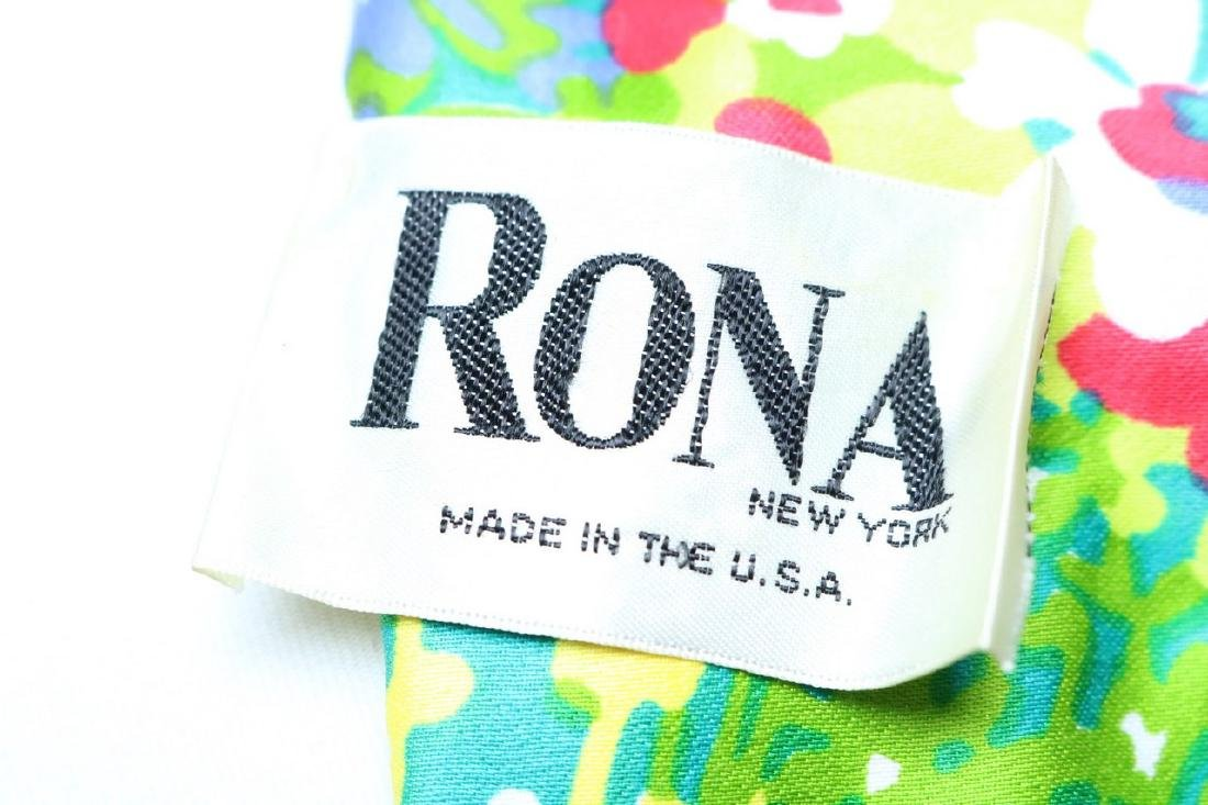 1960's Bright Floral Maxi Dress by Rona - 4