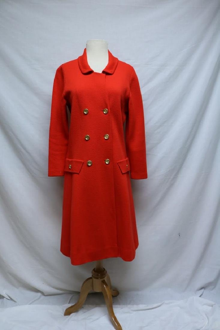 1960's Coral Red Wool Knit Coat by Banff ltd