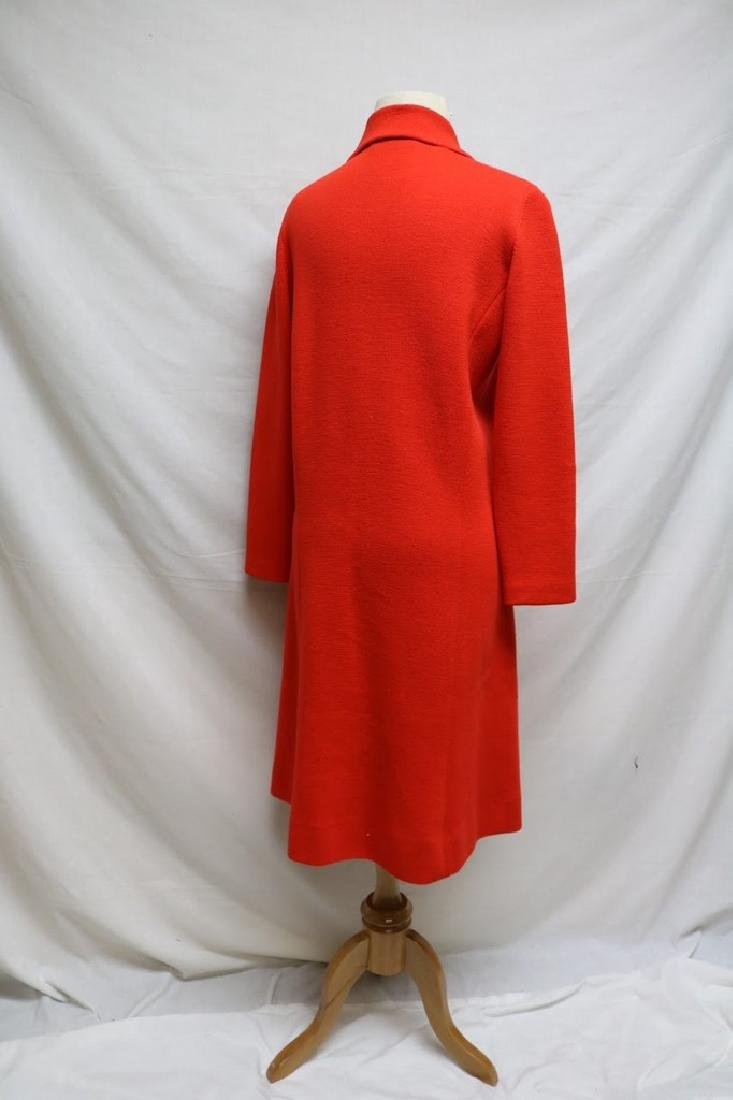 1960's Coral Red Wool Knit Coat by Banff ltd - 2