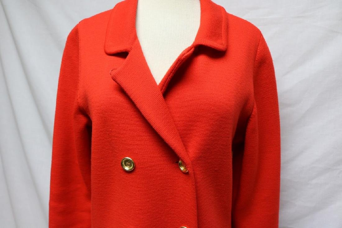 1960's Coral Red Wool Knit Coat by Banff ltd - 3
