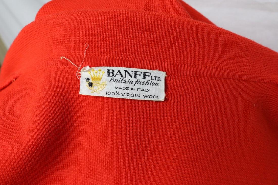 1960's Coral Red Wool Knit Coat by Banff ltd - 4