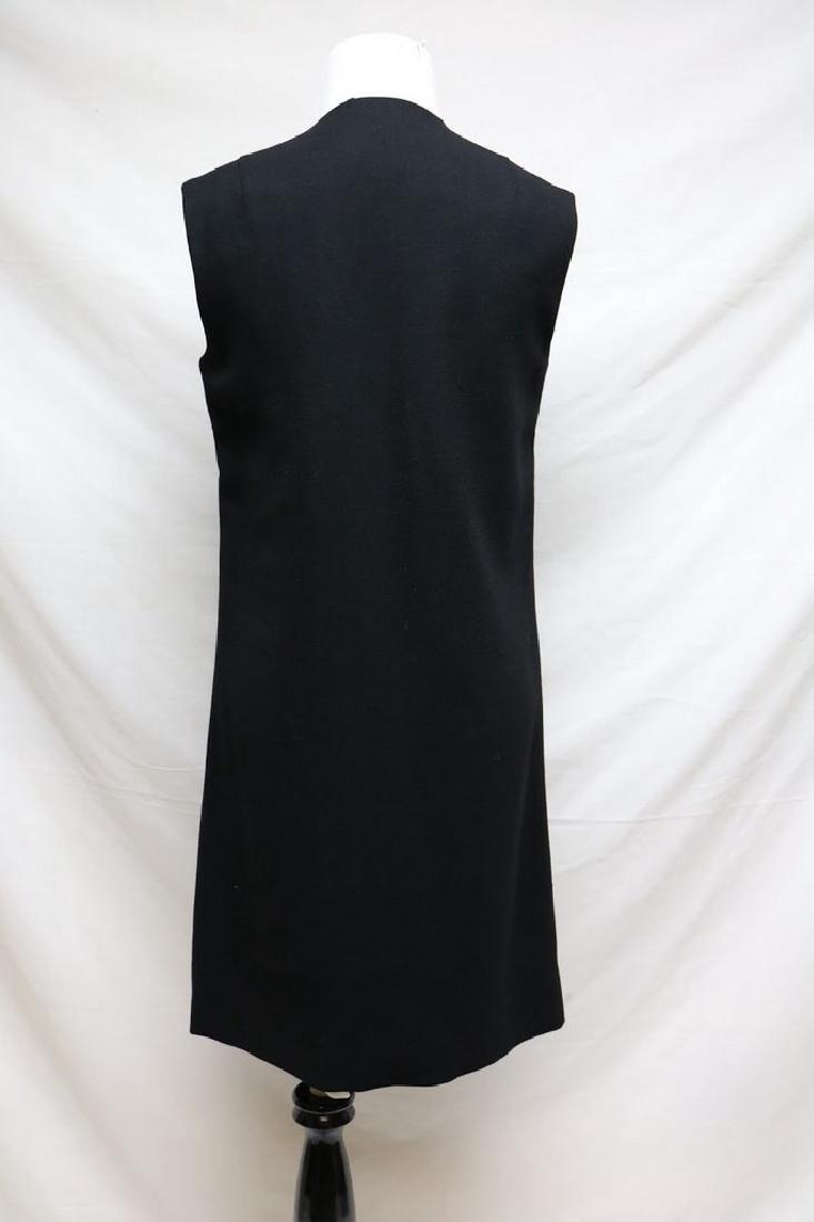 196s black wool crepe dress - 3