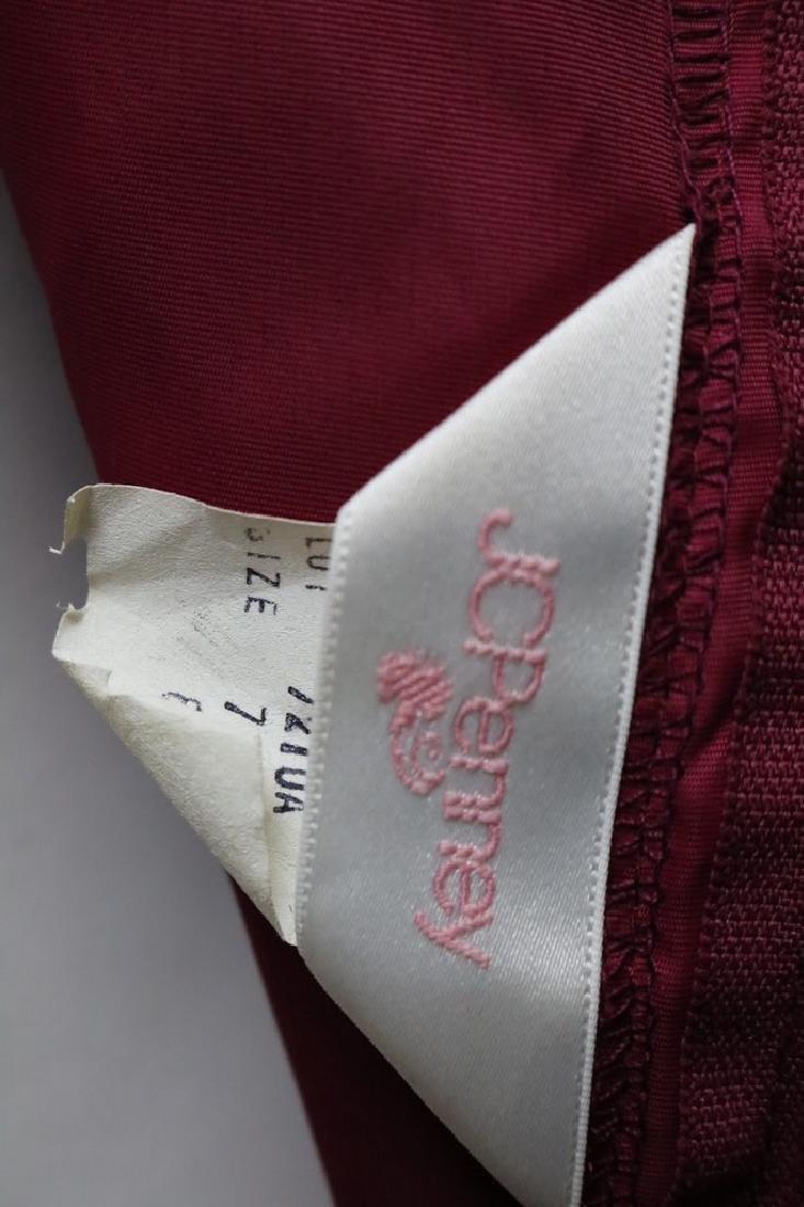 1980s cranberry lace dress - 5