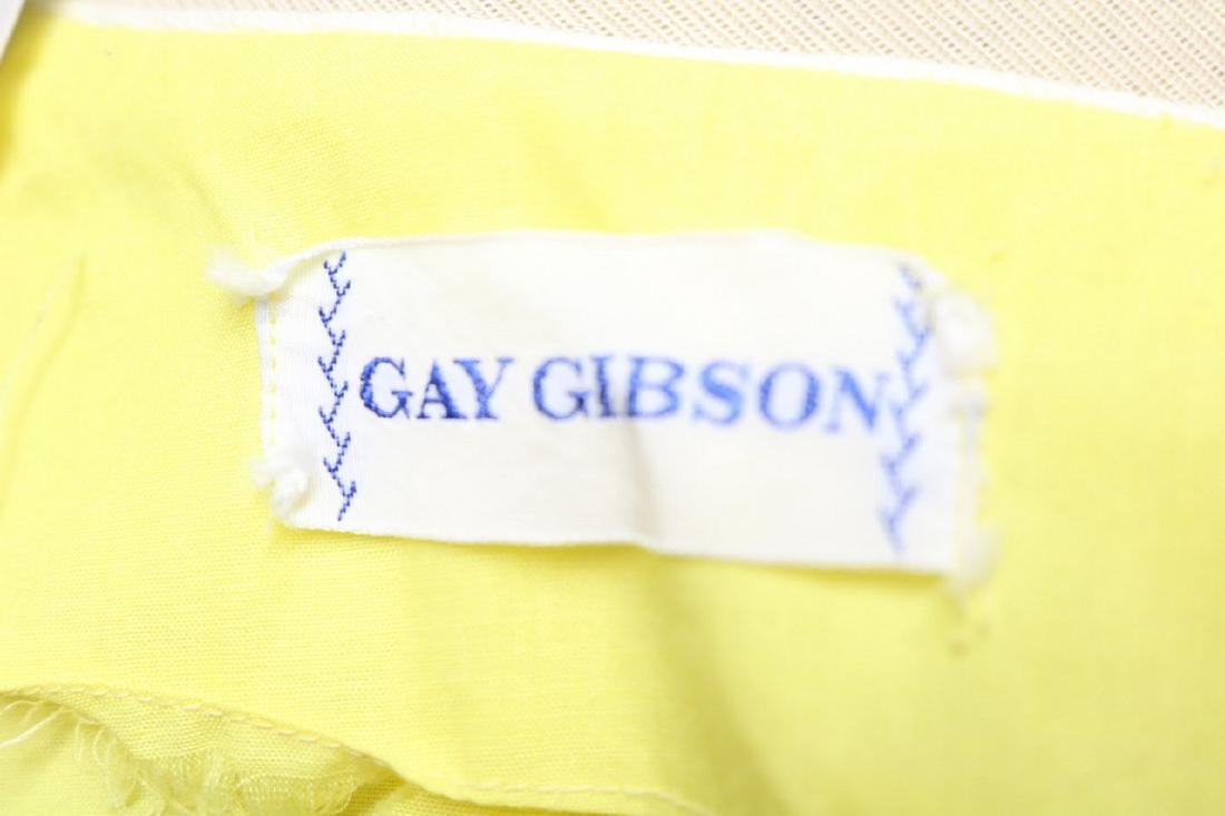 1960s canary yellow dress w/embroidery - 5