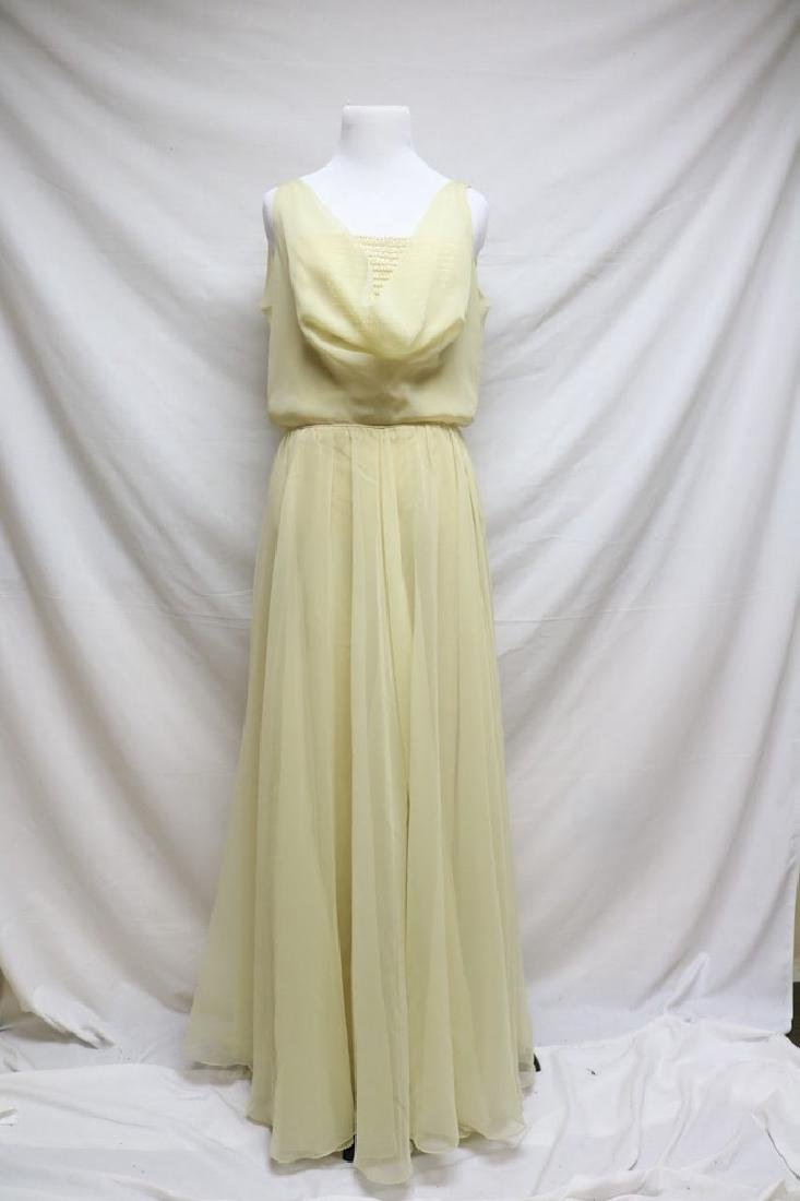 1970s deadstock chiffon evening gown