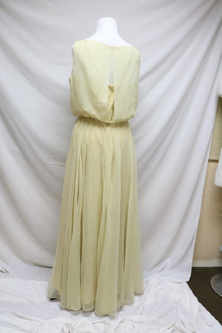 1970s deadstock chiffon evening gown - 3