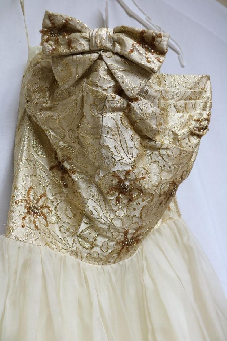 1960s chiffon party dress - 2