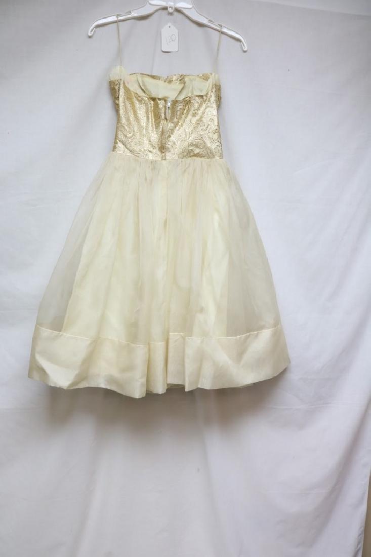 1960s chiffon party dress - 4