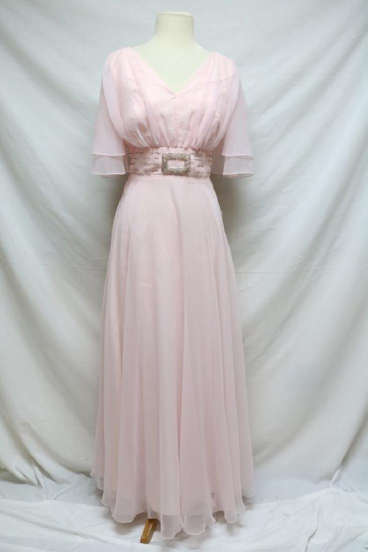 1970s beaded chiffon gown