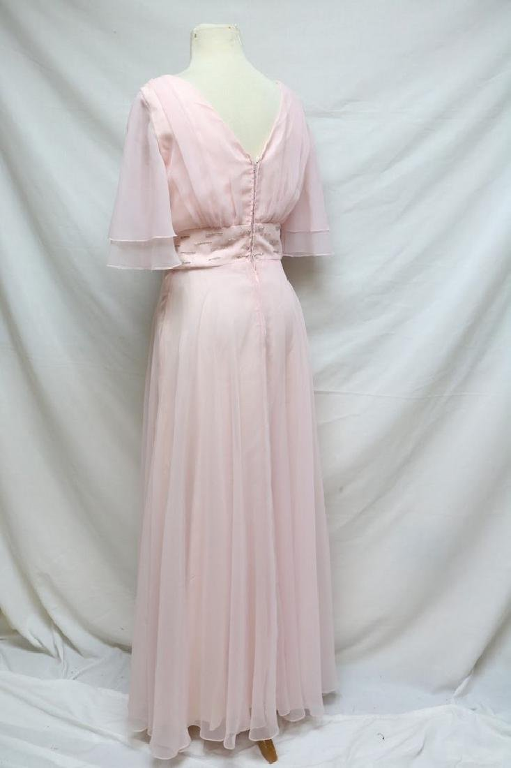 1970s beaded chiffon gown - 3