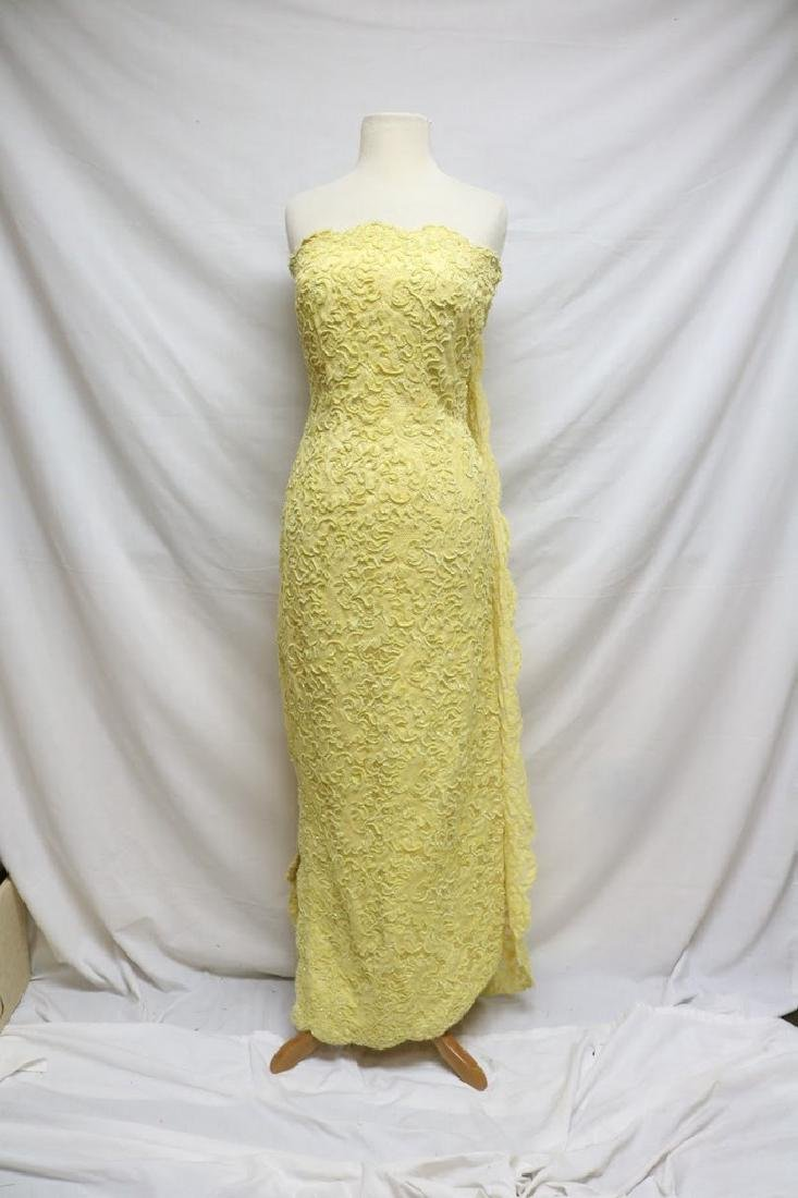 1960s strapless lace dress