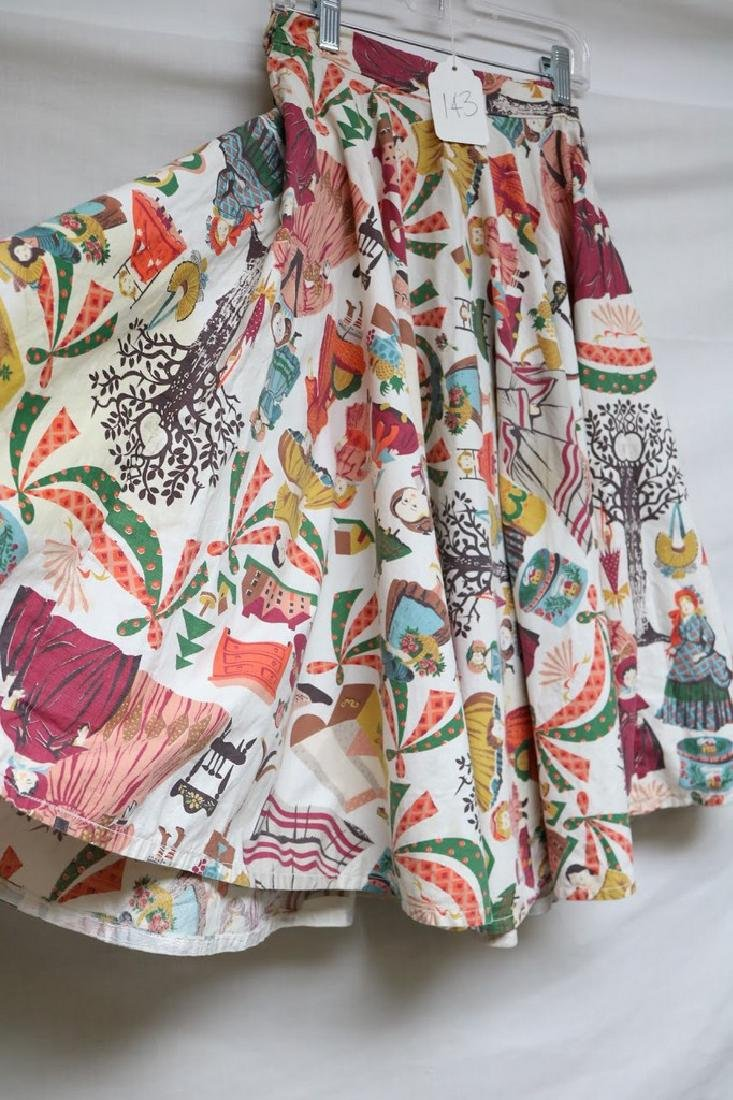 1950s victorian novelty print skirt - 3