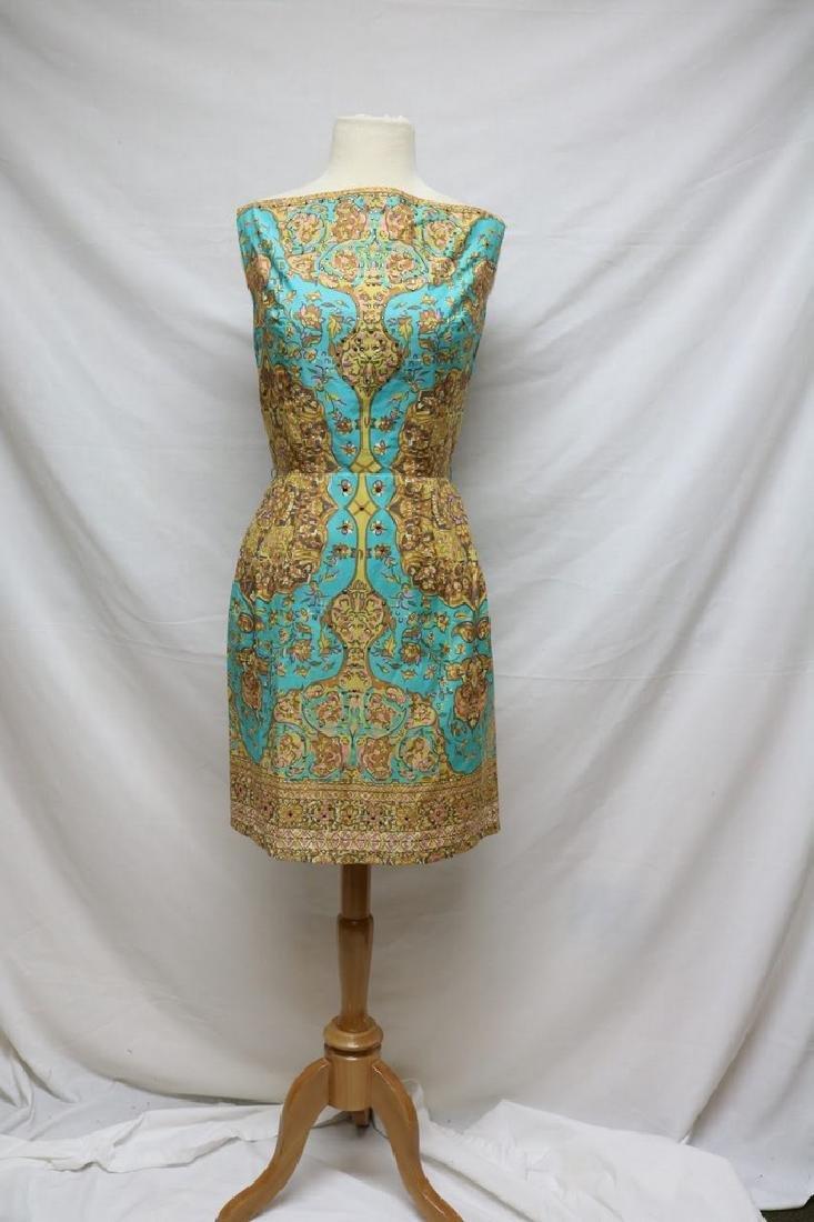1960s floral cotton dress