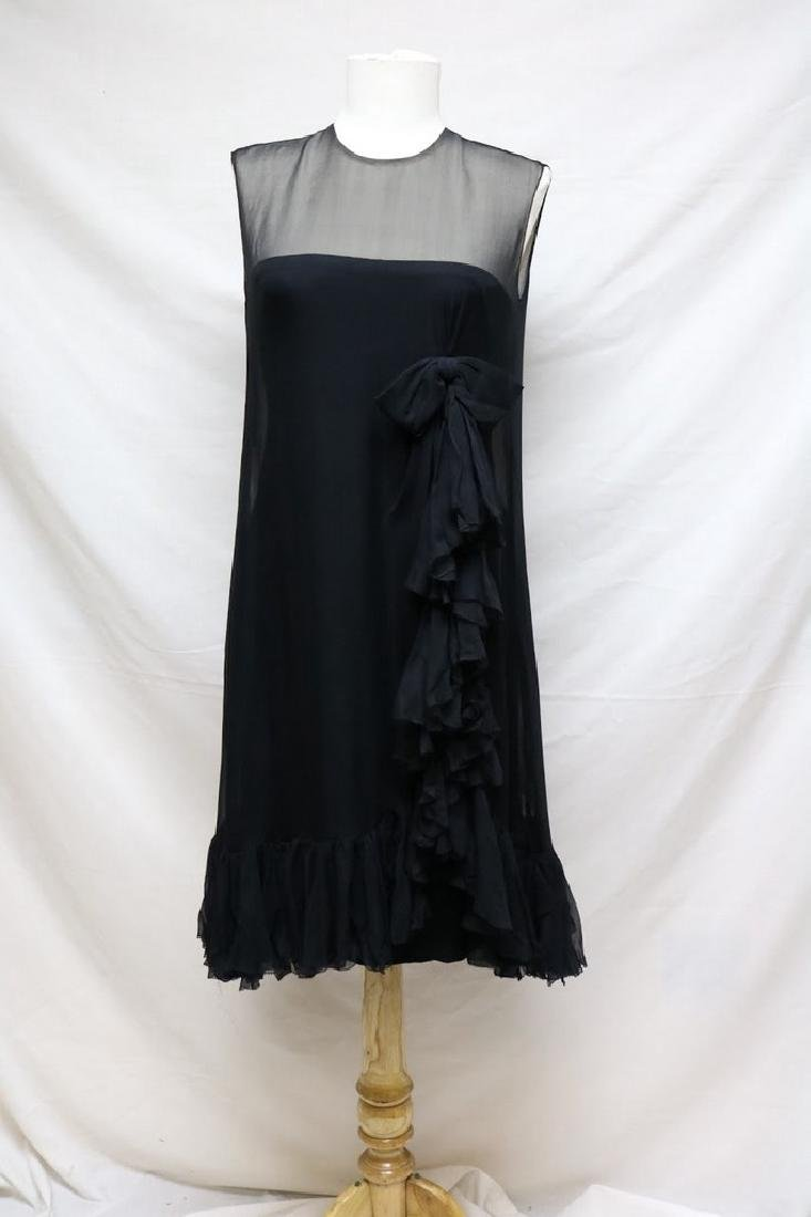 1960s silk chiffon cocktail dress