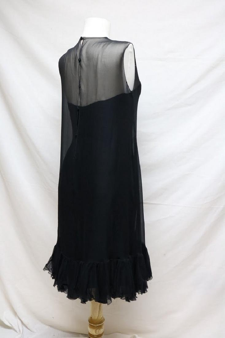 1960s silk chiffon cocktail dress - 2