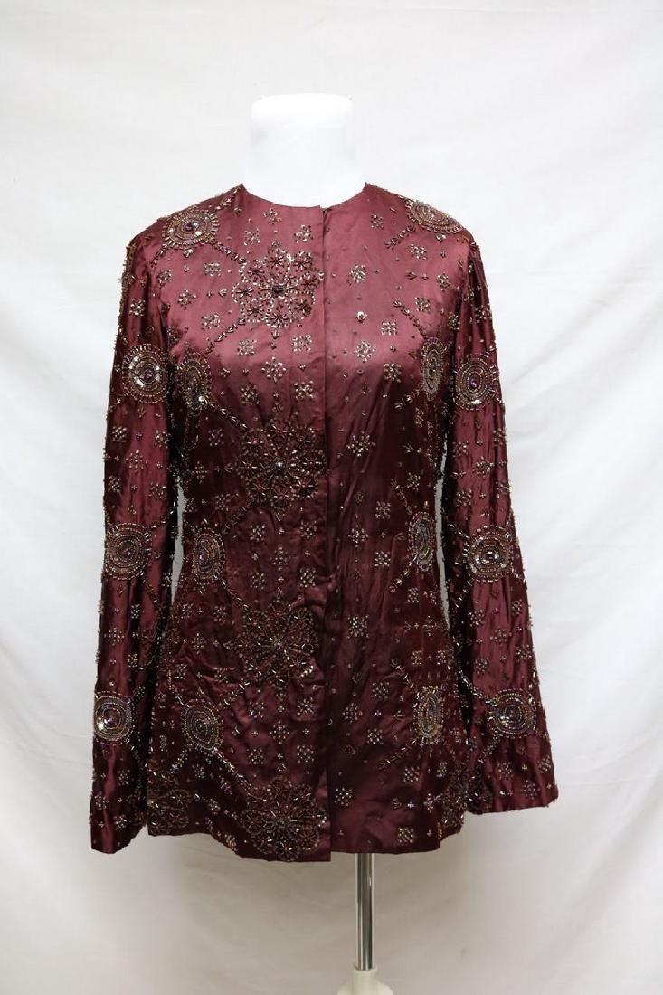 1930s beaded silk jacket