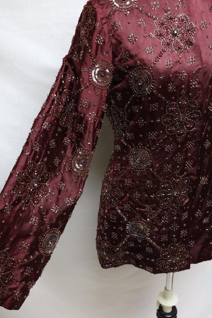 1930s beaded silk jacket - 3
