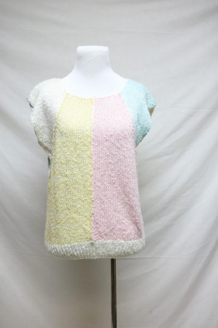 1980s color block sweater