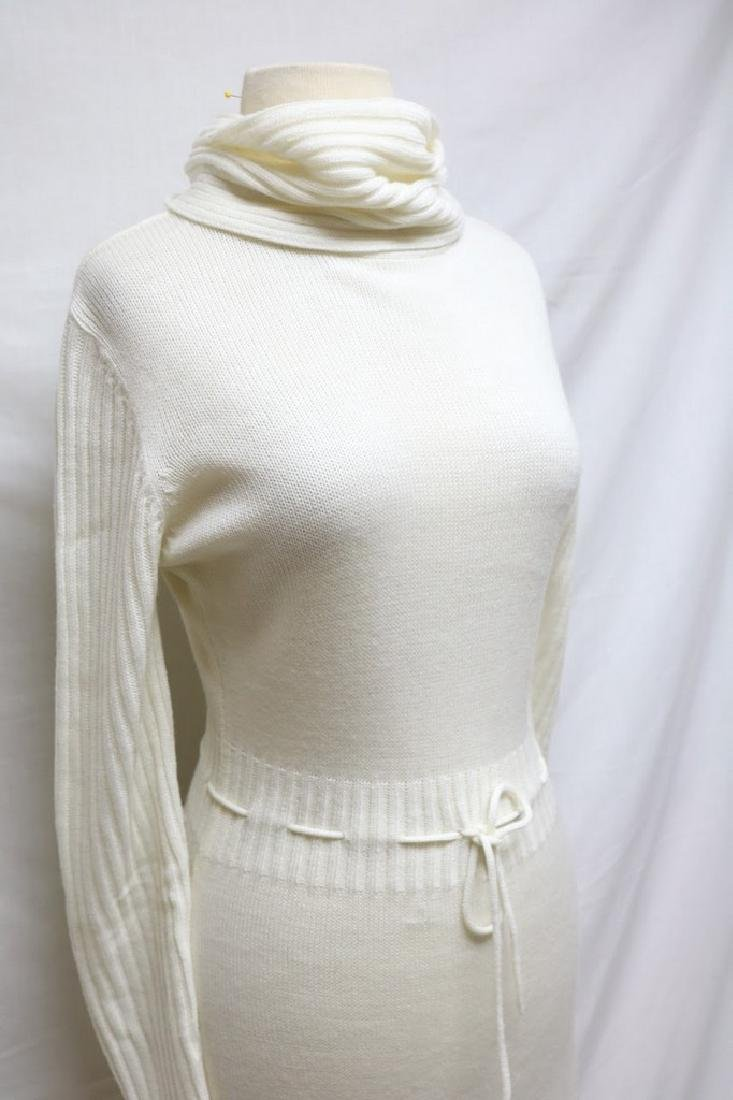 1970s turtleneck sweater dress - 2