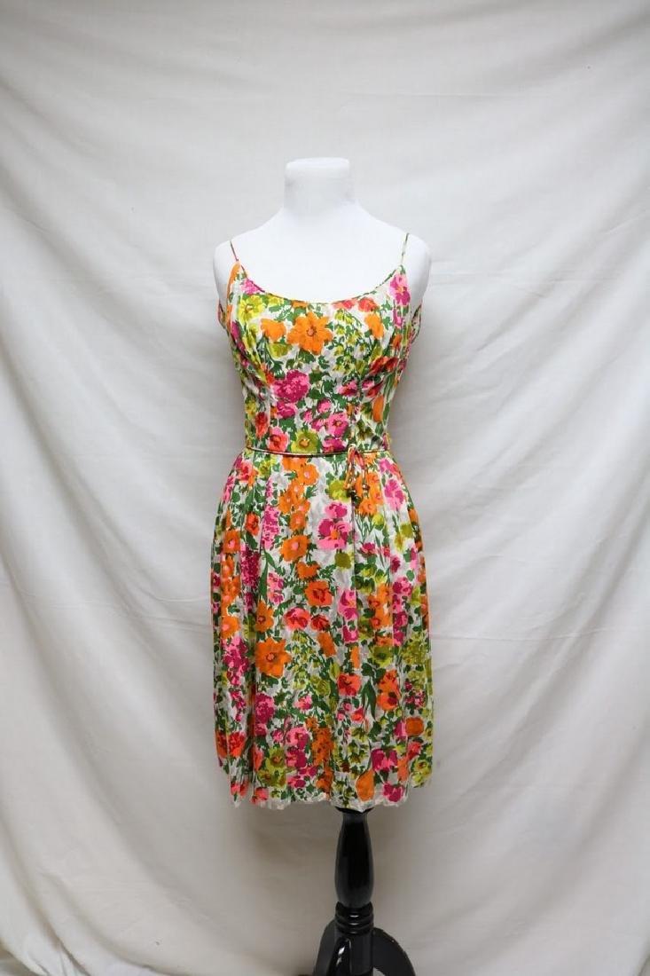 1960s floral cotton sundress