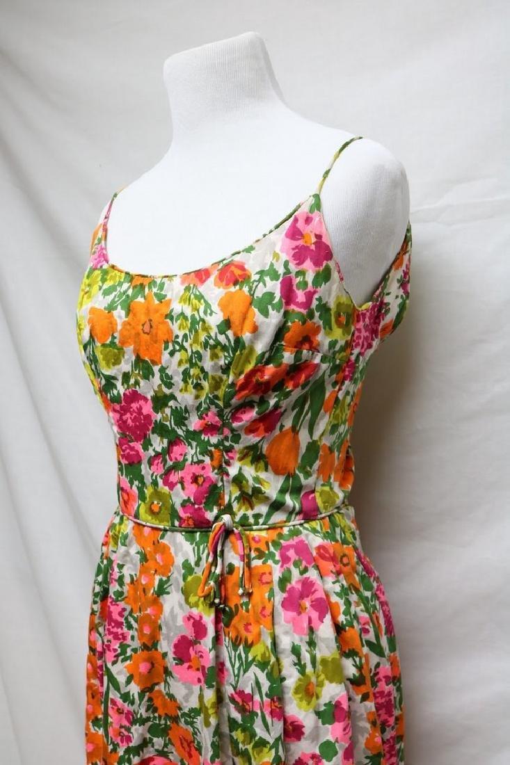 1960s floral cotton sundress - 2