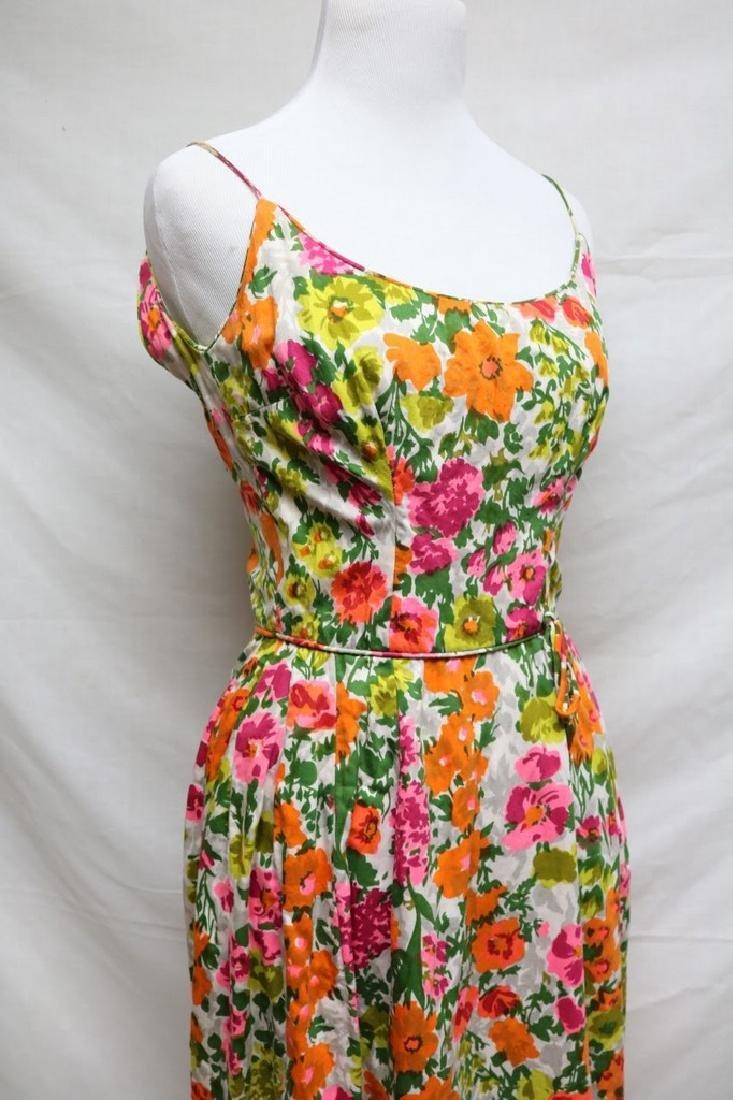 1960s floral cotton sundress - 3
