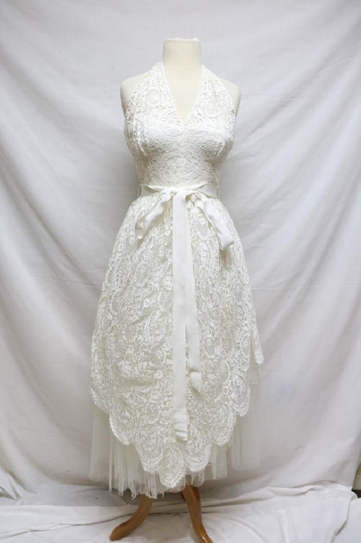 1950s Harry Keiser Halter Dress - 2